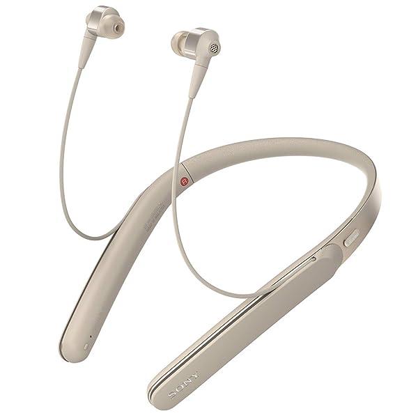 ソニー SONY ワイヤレスノイズキャンセリングイヤホン WI-1000X : Bluetooth/ハイレゾ対応 最大10時間連続再生 カナル型 マイク付き 2017年モデル シャンパンゴールド WI-1000X N