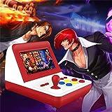 Mangjiu ゲーム機 Mini 無線 ポータブルゲーム機 子供 おもちゃ 男の子 面白いおもちゃ 300ゲーム4.3インチワイヤレスアーケードのレトロミニゲームFCハンドセットマシン (赤)