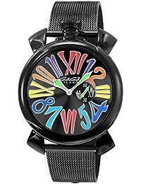 [ガガミラノ]GaGa MILANO 腕時計 スリム46mm ブラック文字盤 ステンレス(BKPVD) ケース ステンレス(BKPVD) ベルト 5082.1 メンズ 【並行輸入品】