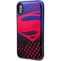 GRAMAS COLORS Hybrid Case with Justice League (iPhone X XS Superman(スーパーマン))