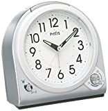 セイコー クロック 目覚まし時計 アナログ 切替式 アラーム PYXIS ピクシス 青メタリック NQ705L SEIKO
