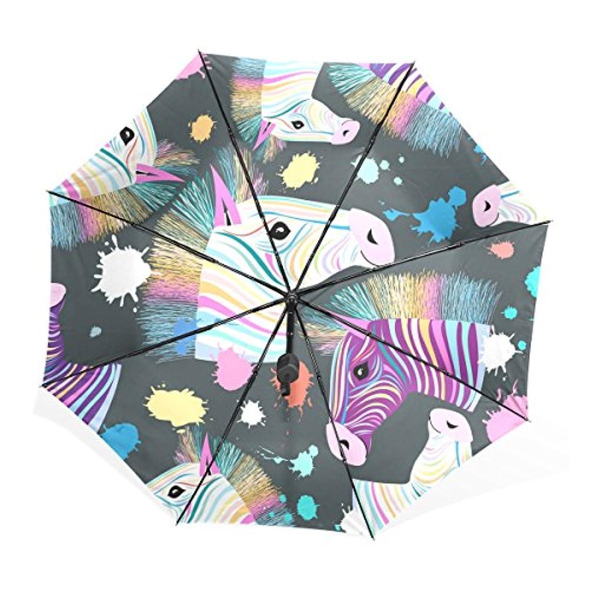 熟した報復する弱めるマキク(MAKIKU) 折り畳み傘 レディース 晴雨兼用 手開き 日傘 軽量 馬 かわいい カラフル uvカット 紫外線対策 頑丈な8本骨 三つ折り 収納ケース付 携帯用傘