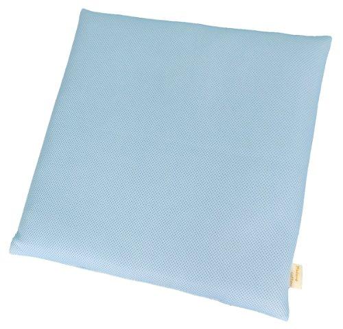 日本製東洋紡ブレスエアーメッシュシートクッション(中材4cmハードタイプ)ブルー