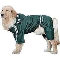 (willmatch) 大型犬 中型犬 犬 用 レインコート レインポンチョ a203 (グリーン, 4XL)