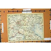 地図 1930 年のイタリアアルタイタリアトリエステ Toring ミラノベルン
