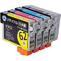 ジット エプソン(EPSON)対応 リサイクル インクカートリッジ IC4CL6162 4色セット対応 JIT-NE61E624P