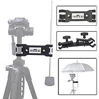 INSEESI 写真 撮影用 多用途アンブレラ 傘 雨傘 三脚固定ホルダー クランプ クリップ 三脚アクセサリー ブラケット アタプター 雨降り日差し 保護 ホルダー