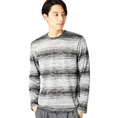 (コムサ イズム) COMME CA ISM グラデーションTシャツ 47-65TF02-108 L ブラック