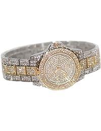 Smalody ブランド鋼の高級女性の腕時計クリスタルラインストーンの腕時計ダイヤモンドの女性のドレス腕時計レディースステンレススチールバンド