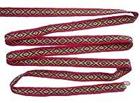 ペルー アンデス ワンカイヨ 民族織物 紐 長さ5m 幅約1.5cm OT-022C