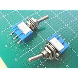 トグルスイッチ 1回路2接点 (ON-ONタイプ)2個入<swp-091>