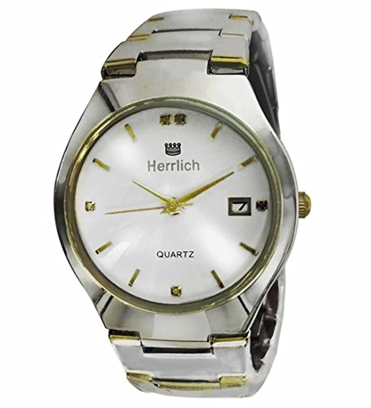 のど松から聞くHerrlich 天然ダイヤモンド5石使用 ブリリアントカット高級腕時計 ホワイト