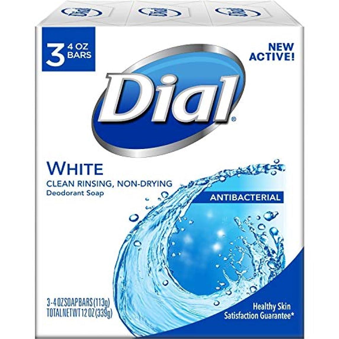 警告する数気絶させるDial ホワイト抗菌消臭石鹸3 Pkは(18パック)