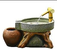 デスク水族館表水槽インテリア装飾加湿自然の風景ホームデコレーション屋内噴水 (Size : 40.5x28x30cm)