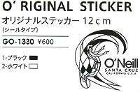 O'NEILL(オニール) オリジナルステッカー(12cm) ブラック
