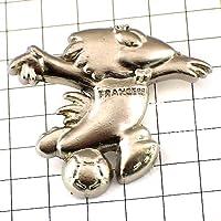 限定 レア ピンバッジ 銀色サッカーワールドカップ鳥フランス大会 ピンズ フランス