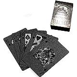 Octerrトランプ ゲームカード 防水 2パックセット スカード マジック 手品 ダイヤモンドシリーズ 頑丈 アップグレード版 ブラック