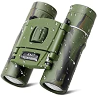 (Green) - SUPRBIRD Kids Binoculars Compact for Bird Watching, 8x21 Mini Folding Pocket Adults Children Binoculars for Educational Learning, Travelling, Concert, Natural Exploration, Best Gift for Boys and Girls