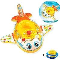 Spiel Baby Inflatable Swimming Pool Float for BathtubとプールSwimトレーナーの6 – 36ヶ月(ブルー&ピンク) イエロー SPIEL