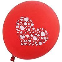SODIAL(R) 25Xラブ気球 パーティー ウェディング装飾 ラテックス 赤