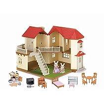 輸入カリコクリッターズシルバニアファミリーアメリカ限定 Calico Critters Calico Cloverleaf Townhome Gift Set [並行輸入品]