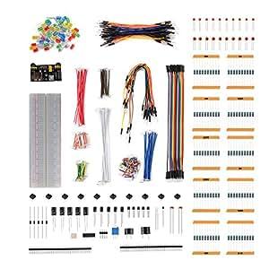 XCSOURCE Arduino用キット ブレッドボード ケーブル抵抗器コンデンサ + RGB LED ポテンショメータ + 電子ファンバンドル アルデュイー ラズベリーパイ 用 TE920