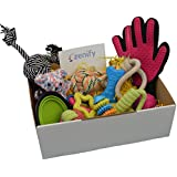 Zenify Puppy Dog Toys Gift Box - 12 Gifts - Pet Interactive Dog Toy Starter Set Includes Indoor Outdoor - Tug Cotton Rope Chew Training Puppies Teething Play Basket