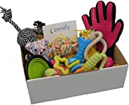 Zenify Puppy Dog Toys Gift Box - 12 Gifts - Pet Interactive Dog Rope Toy Starter Set - Tug Cotton Fetch Ball Launcher Chew R