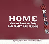 Wall Decor Plus More WDPM2634 Friends Are Family, Family Are Friends Vinyl Wall Decal Quote 23 x 9 Inch White [並行輸入品]