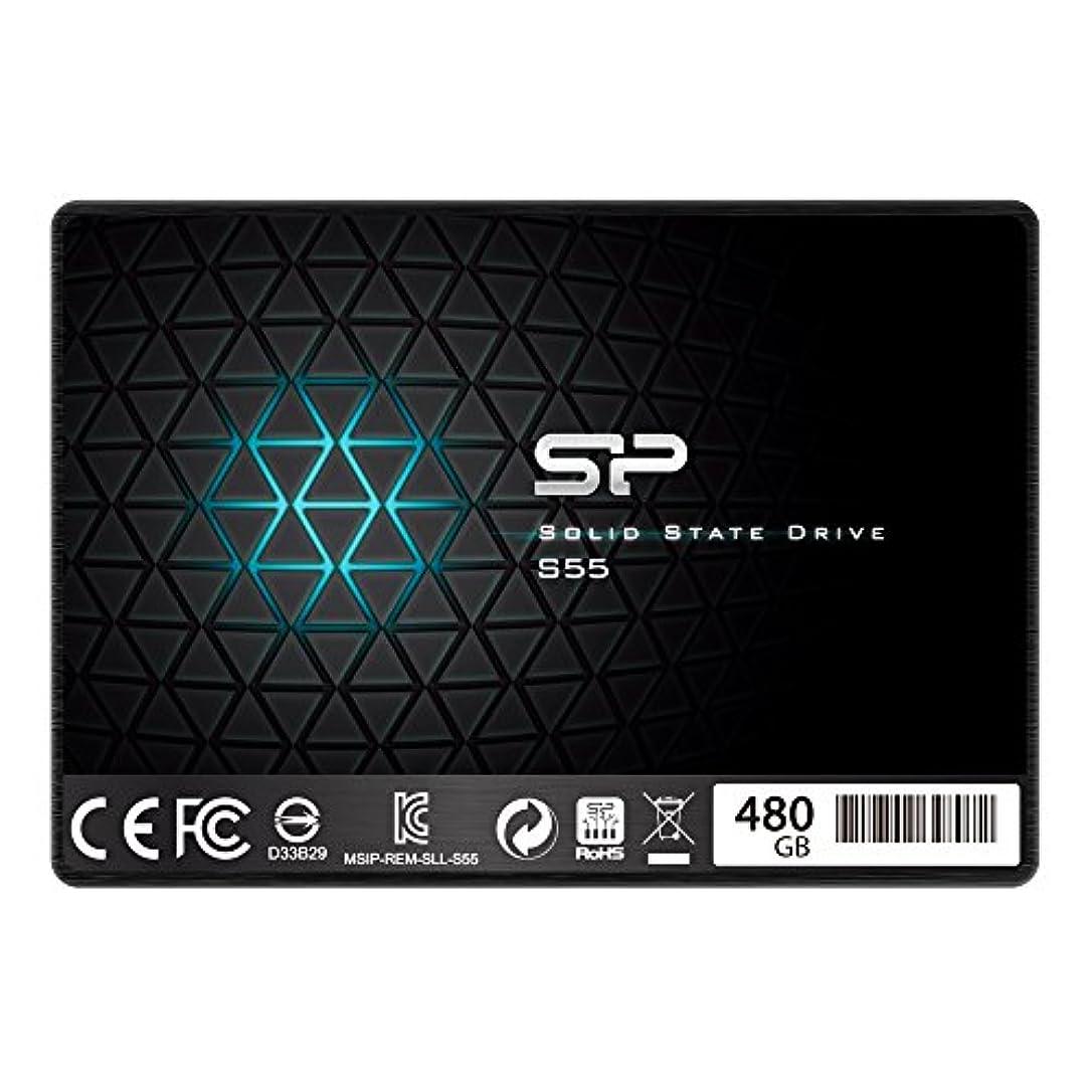 系譜伝えるフレキシブルシリコンパワー SSD 480GB TLC採用 SATA3 6Gb/s  2.5インチ 7mm  3年保証 S55シリーズ SP480GBSS3S55S25AC