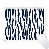 青と白のタイガープリント PC Mouse Pad パソコン マウスパッド