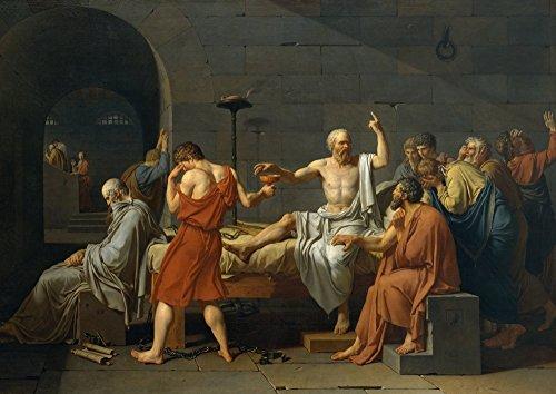 絵画風 壁紙ポスター (はがせるシール式) ソクラテスの死 哲学者 絵画 キャラクロ SCT-001A1 (A1版 830mm×585mm) 建築用壁紙+耐候性塗料
