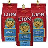 (ライオンコーヒー) ポピュラー フレーバーコーヒー 3種セット 各198g×3パック (粉)
