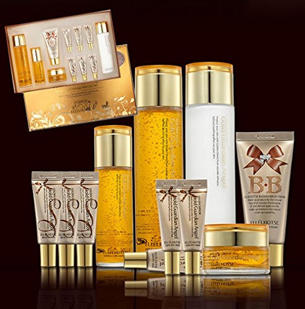 かろうじてトチの実の木経済的[ELLELHOTSE]ゴールドファーミングスキンケア7set/弾力&柔軟性/コエンザイムQ-10/韓国の化粧品/Gold Firming Skin Care 7set/resilience & flexibility/...