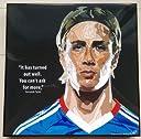 フェルナンド トーレス チェルシーFC 海外製 サッカーグラフィックアート 木製ポスター インテリア