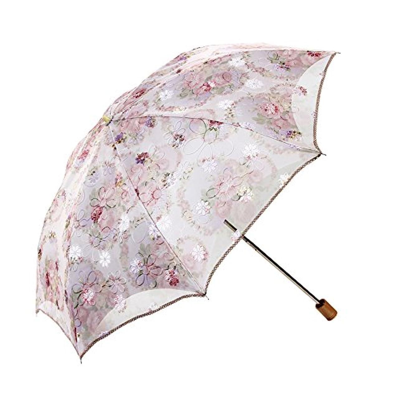 シャー脊椎プランテーションYijinxiu 日傘 折りたたみ 晴雨兼用 レディース 折り畳み傘 レース 遮熱日傘 uvカット 紫外線カット 軽量 8本骨 3つ折 2つ折 おしゃれ 可愛い 雨傘 紫外線対策 ピンク ブルー (2つ折-ピンクB)
