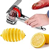 Tomato Lemon Slicer Holder Round Fruits Onion Shreader Cutter Guide Tongs with Handle Kitchen Cutting Potato Lime Food Stand