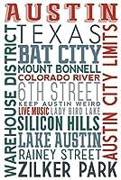 オースティン、テキサス–Typography 16 x 24 Giclee Print LANT-72399-16x24