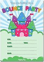 Bounce House誕生日招待状封筒付き( 15パック)–キッズ誕生日パーティー招待状for Boys or Girls