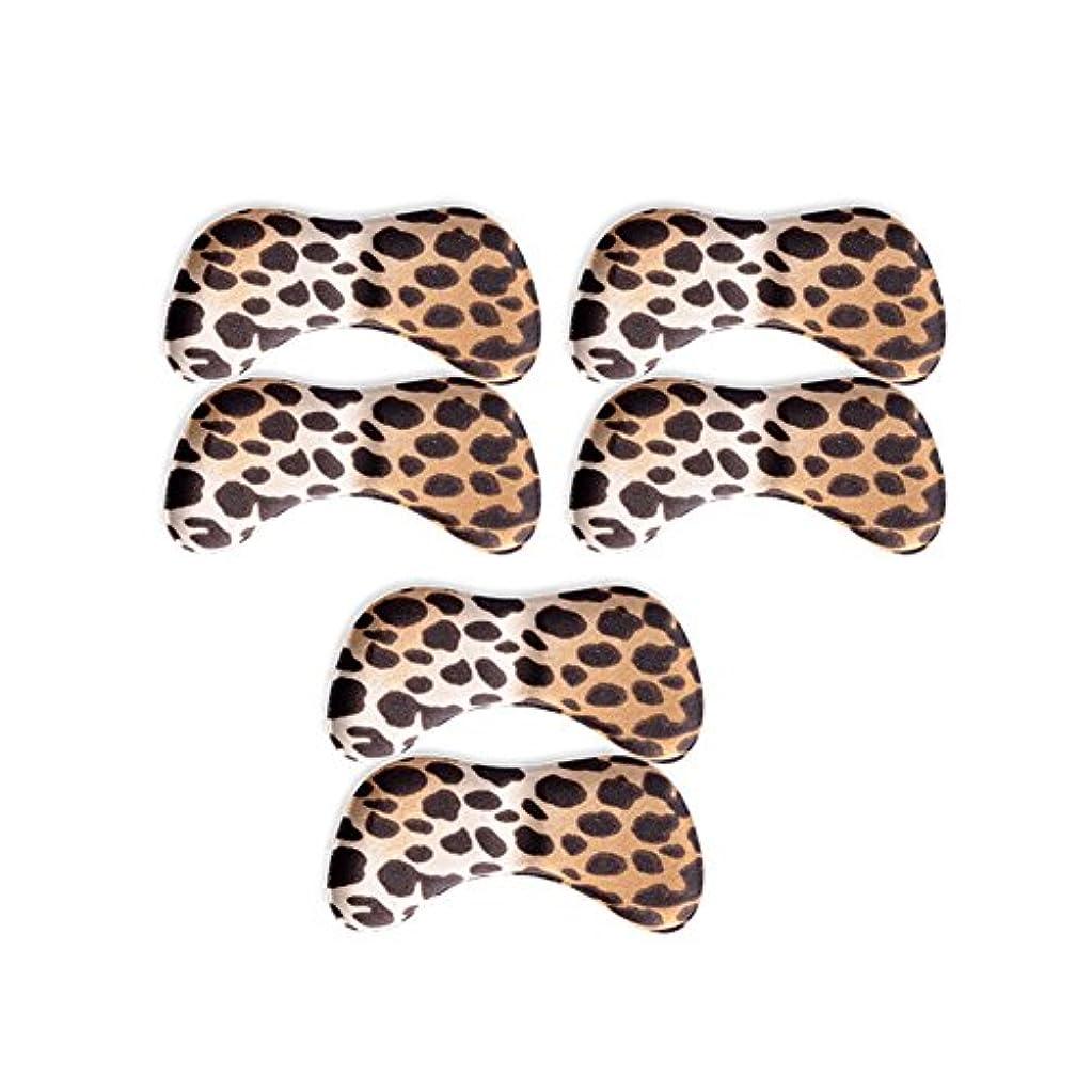 徴収隔離不忠3ペアバタフライウィング形状4D低反発靴のクッションパッドハイヒールインソール、ヒョウ