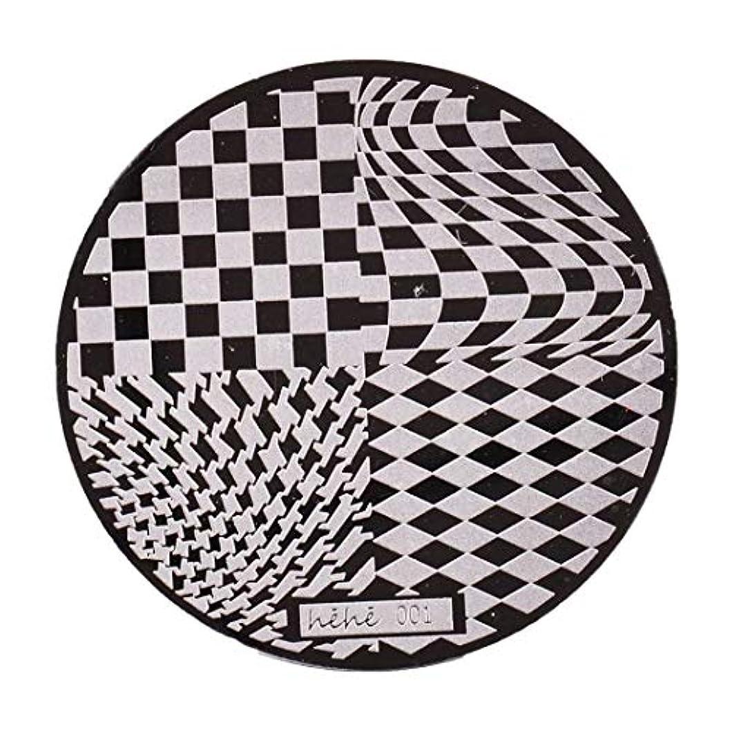 セレナ囚人元気Yoshilimen スマートネイルアートネイル丸板印刷プレート(None 01)