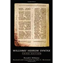 Williams' Hebrew Syntax
