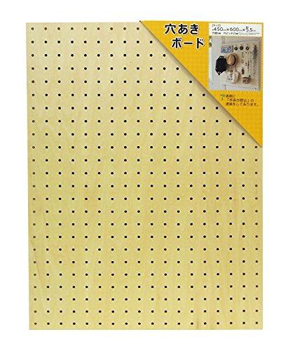 WAKI 穴あきボード (天然木使用) 幅450mmX高さ600mm ANB-002