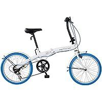 CHACLE(チャクル) Prier(プリエ) 軽くてパンクしない フォールディングバイク 20インチ 外装6段変速仕様 ノーパンクタイヤ 空気入れ不要 折り畳み自転車 FDR-CC206PR