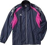 (ミズノ)MIZUNO クロスティック ウインドブレーカーシャツ 32JE4510 86 ドレスネイビー×ベリーピンク S