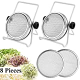 SproutingLidsforWideMouthMasonJars Canning Jars Kit with 2 Pack Stainless Steel Sprouting Stands for Making Organic Sprout Seeds