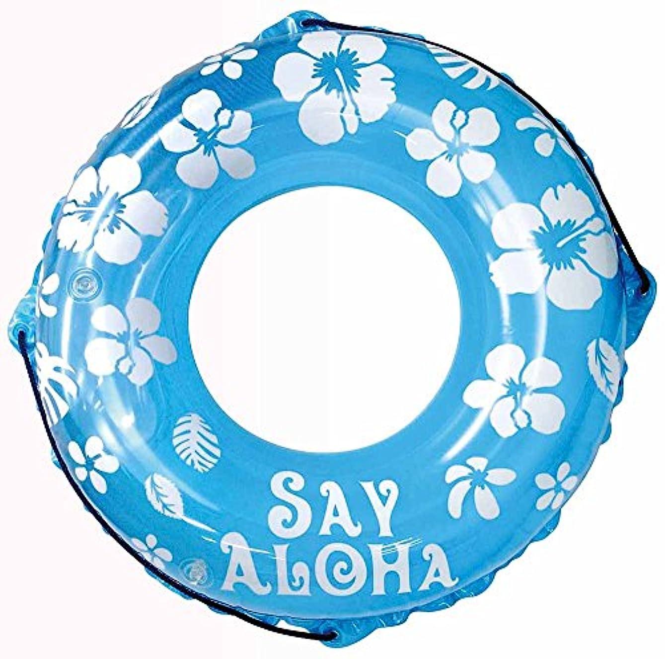 酸電報若いドウシシャ 浮き輪 SayAloha ブルー 80cm