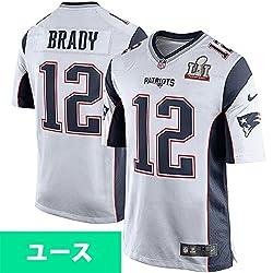 Nike(ナイキ) NFL ペイトリオッツ トム・ブレイディ ユース スーパーボウル LI ゲーム ユニフォーム ホワイト