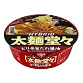 日清 HYBRID太麺堂々 ピリ辛旨だれ醤油 133g×12個