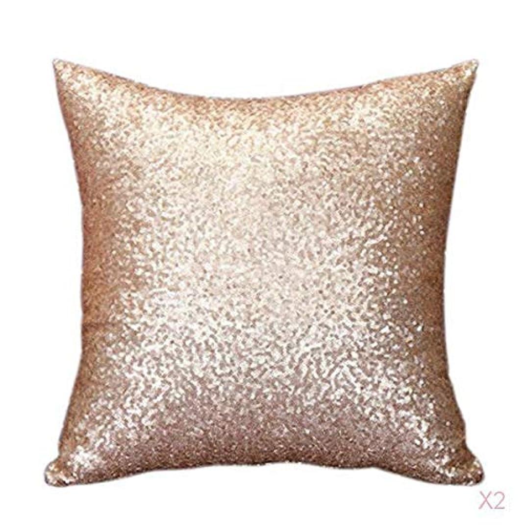 バター特徴平等FLAMEER ファンシースパンコールソファスクエア枕クッションカバーケースの装飾シャンパンを投げます